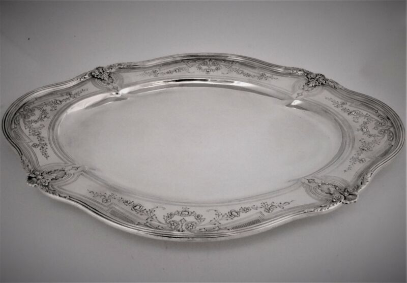 """Black, Starr & Frost Sterling Silver Tray  16"""""""