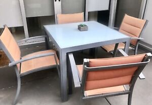 Outdoor dining table & 4 chairs set