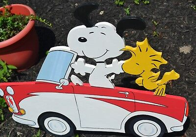 lawn stake garden decorations lawn decorations Snoopy Woodstock Peanuts gang