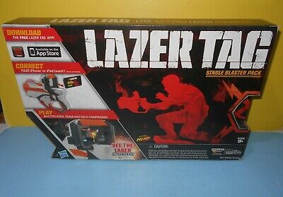 New Hasbro Nerf Lazer Tag iPhone/iPad Blaster Single Pack Orange/White NIB