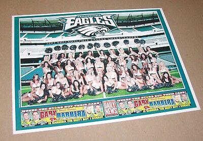 "Used, 2003 PHILADELPHIA EAGLES CHEERLEADERS DANCERS GROUP POSTER 9"" X 12"" DAILY NEWS for sale  Bethlehem"