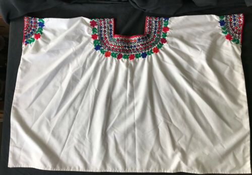 Coban Style Guatemalan Huipal Blouse Hand Embroidered Women