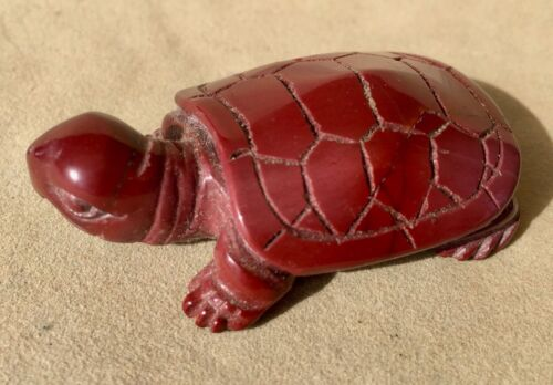 "Mookaite Turtle Carving 2 1/8"""