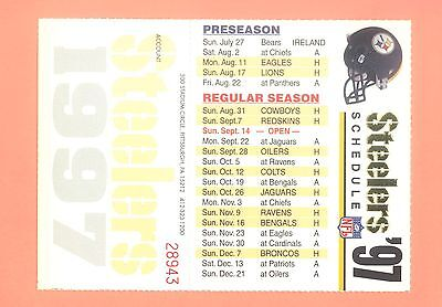 Pittsburgh Steelers 1997 Season Ticket Holder NFL Schedule mint condition