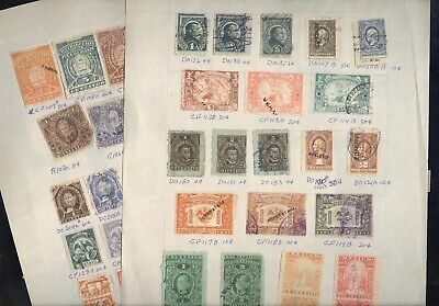 MEXICO, Excellent assortment of Revenue Stamps hinged on pages
