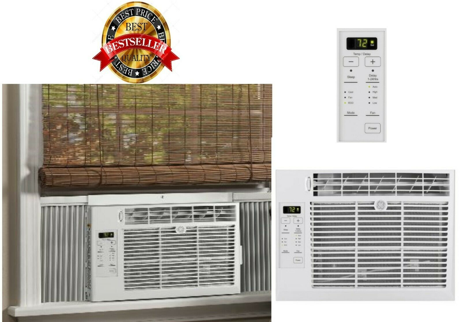 Window Air Conditioner AC Unit Remote Cool Bedroom Living Ro
