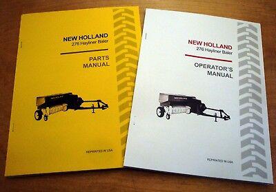 New Holland 276 Hayliner Baler Operators And Parts Manual Catalog Book Nh