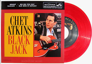 Rockabilly-CHET-ATKINS-7-Black-Jack-RECORD-STORE-DAY-2013-RED-Vinyl-EP-2013