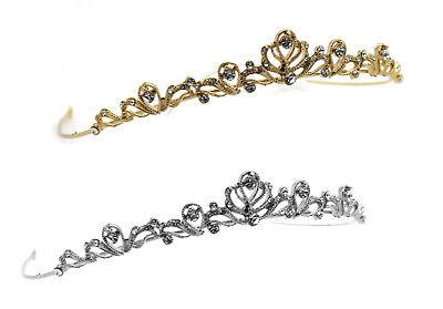 ♥♥ Diadem Tiara  Haar Krone Silber + GOLD Marke EMMERLING Swarovski Kristalle