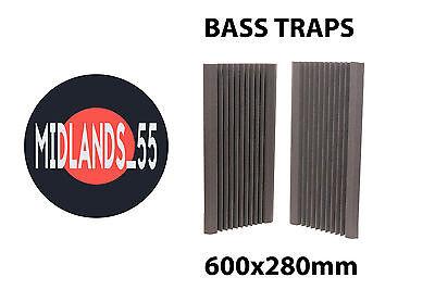 2 Professional Acoustic Foam (600x280mm) Bass Traps Sound Treatment