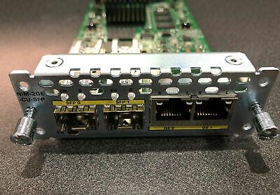 Cisco NIM-2GE-CU-SFP 2-port Gigabit Ethernet dual-mode GE/SFP Module