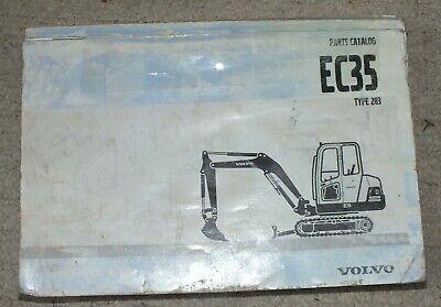 Original Volvo Ec35 Type 283 Construction Equipment Parts Catalog Manual Book