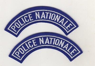Behörden Uniform Aufnäher Patches Police Nationale Polizei Frankreich