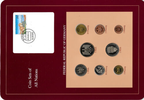 Coin sets of all nations Germany 1986 - 1988 UNC  2, 5 Mark 1988 1 Mark 1986