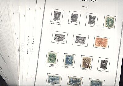 NEWFOUNDLAND, PROVINCES, Excellent Stamp Collection hinged on Harris pages