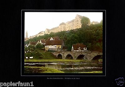 Kirchberg an der Jagst XL Fotoabbildung von 1924 in Farbe Hohenlohe +