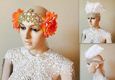 Mermaid flower headpiece Gatsby rose crown bridal headdress vintage style crown - Mermaid Crown