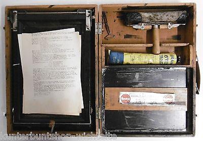 Antik Geha Stapeldrucker Nr.45 Originalmatrizendrucker Zubehör im Holzkoffer