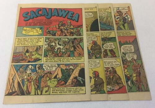 1941 seven page cartoon story ~ SACAJAWEA