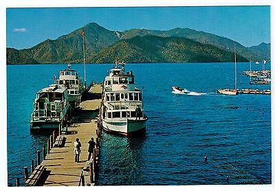 Lake Chuzenji JAPAN Boats BOATING Vintage 1960's Photo Postcard