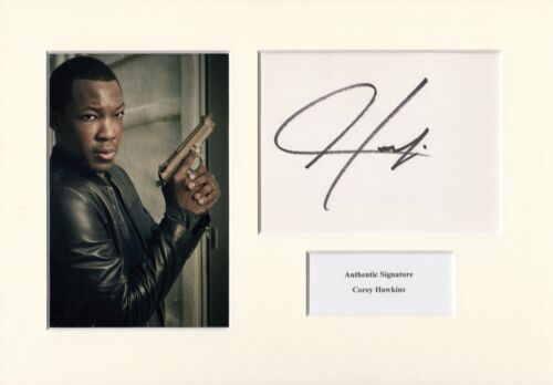 COREY HAWKINS AUTHENTIC SIGNED 24: LEGACY A4 MOUNTED DISPLAY AFTAL UACC [14455]