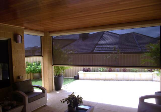 Outdoor blinds zip trak curtains blinds gumtree for Outdoor furniture joondalup