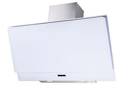 dunstabzugshaube 90cm nodor 1000m3 h wei glas wandhaube kopffrei led ambient. Black Bedroom Furniture Sets. Home Design Ideas