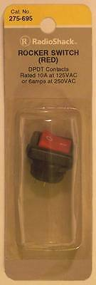 Radioshack 275-695 Dpdt Red Rocker Switch 10a At 125vac 6a At 250vac