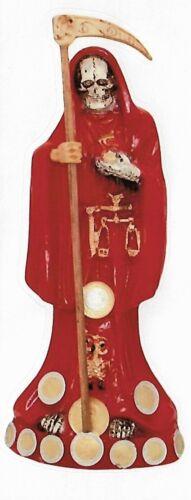 """2""""x5""""  CALCOMANIA ROJA DE LA SANTA MUERTE / 2X5 INCH RED HOLY DEATH STICKER"""