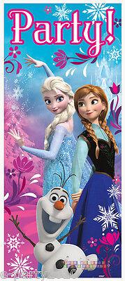 FROZEN PLASTIC DOOR POSTER ~ Birthday Party Supplies Decorations Sign Anna Elsa](Frozen Elsa Party Supplies)