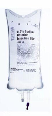 1pk Sodium Chloride 0.9 1000ml - New Sealed Free Shipping
