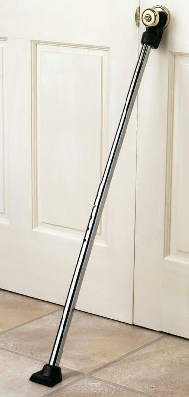 Adjustable Door Handle Home Security Bar Rod Brace Jammer Apartment Safety Lock