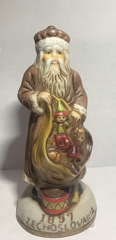 "1897 Czechoslovakia Santa Claus Ceramic Figurine 5.5"" Christmas Ornament"