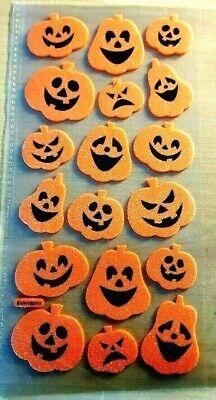 en - Schaumstoff-Sticker - Kürbisse orange - 18 Stück (Happy Halloween 18)