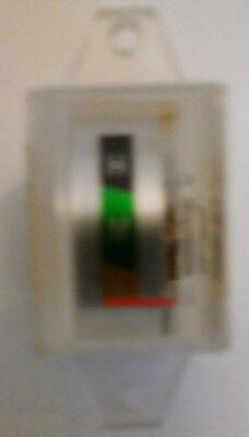 Lmh Vintage Rectangular Analog Panel Meter Japan .8 X .5 Yellowgreenblack