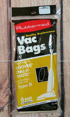 Hoover Dial A Matic Upright Sweeper Bags Type D Set of 6 NEW (Hoover Sweeper Bags)