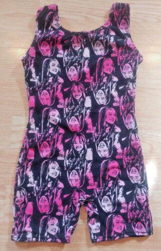 Girls Disney Hannah Montana Size XS 4/5 Dance Gymnastics Unitard Leotard Black