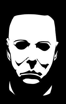 Michael Myers vinyl decal sticker horror halloween carpenter 70's