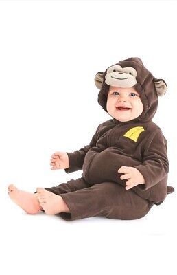 3-6 Month Monkey Halloween Costume (New with Tags Carter's 2 Piece Monkey Halloween Costume 3-6 Months Baby)