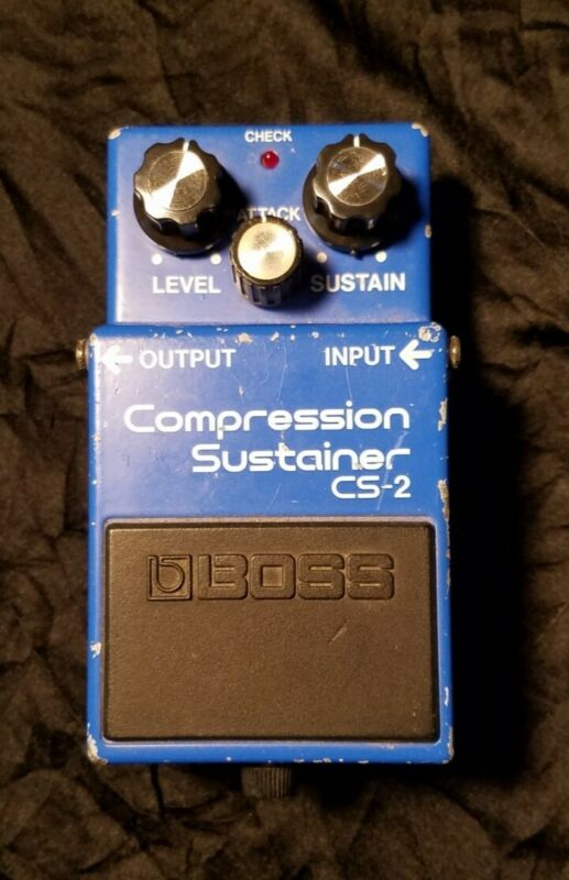 Vintage Boss CS-2 Compression Sustainer Guitar Effects Pedal MIJ 1985
