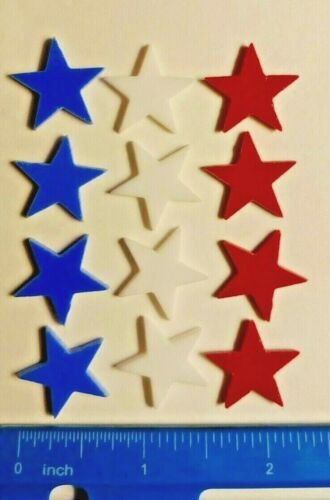 """3/4"""" Glass Precut Stars for Fusing & Mosaic - Coe 96 - Various Sizes & Colors"""