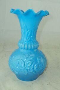 antike Glas Vase 19. Jhdt. Milchglas Opalinglas