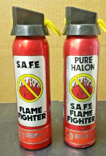 SAFE Flame Fighter Pure Halon Fire Extinguisher 1211/1301 1-B:C Pair