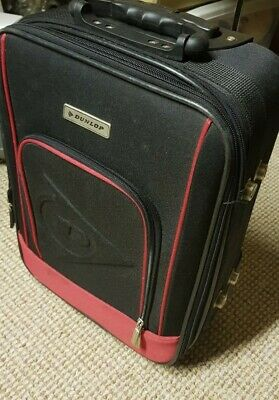 Dunlop Red Hand Luggage Trolley Case Suitcase 19in 47cm Extendable