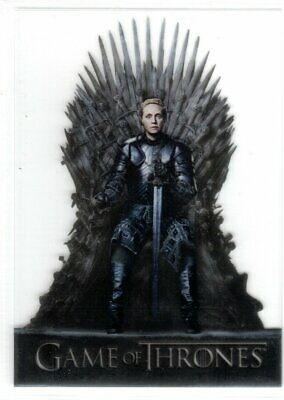 GAME OF THRONES SEASON 8 ACETATE INSERT TRADING CARD T10 BRIENNE OF TARTH