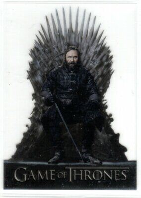 GAME OF THRONES SEASON 8 ACETATE INSERT TRADING CARD T16 THE HOUND