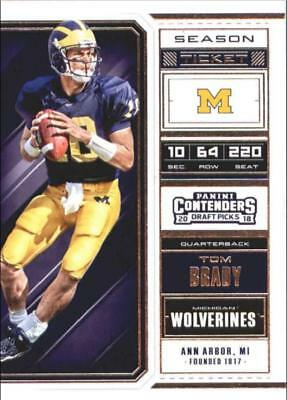 2018 Panini Contenders Draft Picks Season Football Base Singles (Pick Ur Cards)
