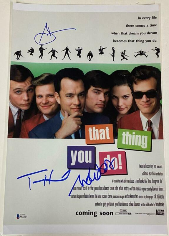 TOM HANKS CAST SIGNED THAT THING YOU DO 12X18 PHOTO AUTOGRAPH BECKETT COA