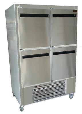 Cooltech Stainless Steel 4-doors Reach-in Cooler Wcasters 48w Ckk-48ri-fd
