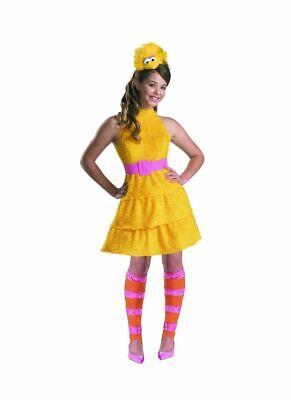 Big Bird Costume Kids Girl Sesame Street Halloween Fancy Dress size Large 10-12](Big Bird Halloween)